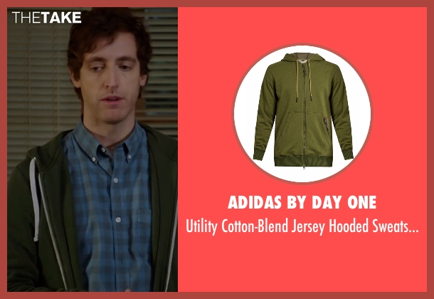 Adidas By Day One green sweatshirt from Silicon Valley seen with Richard Hendricks (Thomas Middleditch)