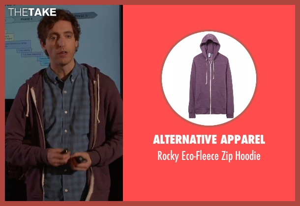 Alternative Apparel purple hoodie from Silicon Valley seen with Richard Hendricks (Thomas Middleditch)