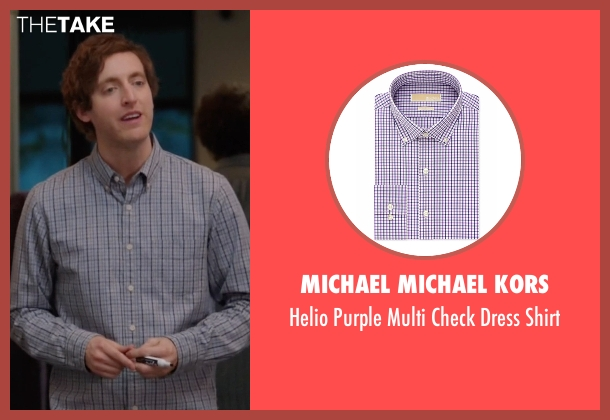 Michael Michael Kors purple shirt from Silicon Valley seen with Richard Hendricks (Thomas Middleditch)