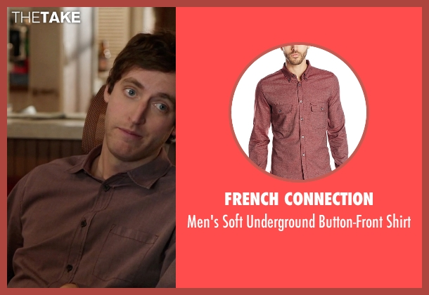 French Connection red shirt from Silicon Valley seen with Richard Hendricks (Thomas Middleditch)