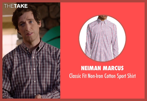 Neiman Marcus red shirt from Silicon Valley seen with Richard Hendricks (Thomas Middleditch)