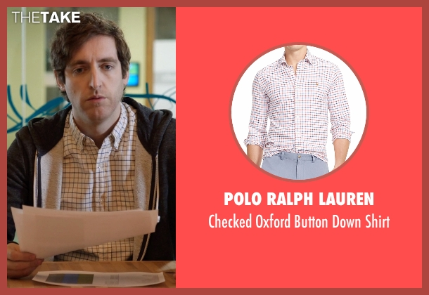 Polo Ralph Lauren white shirt from Silicon Valley seen with Richard Hendricks (Thomas Middleditch)