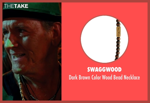 SwaggWood brown necklace from Hall Pass seen with Richard Jenkins (Coakley)