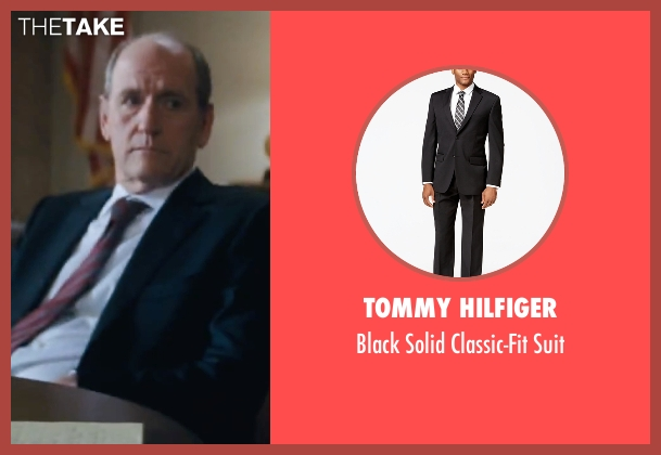 Tommy Hilfiger black suit from Jack Reacher seen with Richard Jenkins (Alex Rodin)