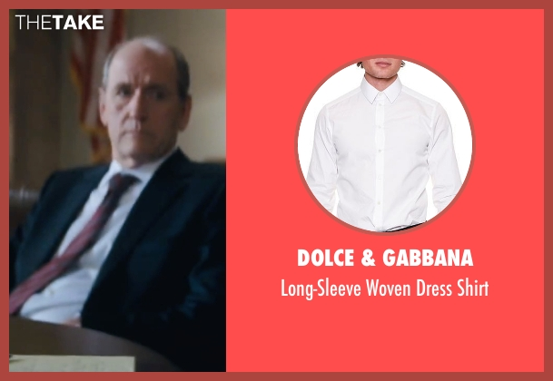 Dolce & Gabbana white shirt from Jack Reacher seen with Richard Jenkins (Alex Rodin)
