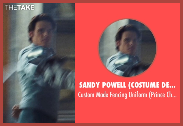 Sandy Powell (Costume Designer) uniform from Cinderella seen with Richard Madden (Prince Charming)