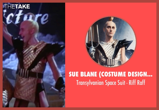 Sue Blane (Costume Designer) raff from The Rocky Horror Picture Show seen with Richard O'Brien (Riff Raff)