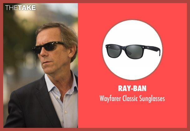 Ray-Ban black sunglasses from The Night Manager seen with Richard Onslow Roper (Hugh Laurie)