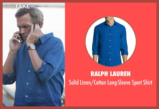 Ralph Lauren blue shirt from The Night Manager seen with Richard Onslow Roper (Hugh Laurie)