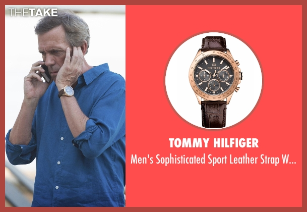 Tommy Hilfiger brown watch from The Night Manager seen with Richard Onslow Roper (Hugh Laurie)