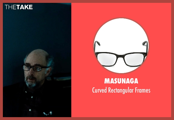 Masunaga black frames from Man of Steel seen with Richard Schiff (Dr. Emil Hamilton)