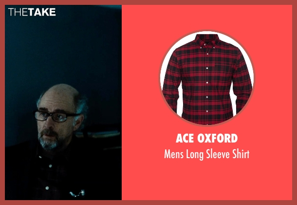 Ace Oxford red shirt from Man of Steel seen with Richard Schiff (Dr. Emil Hamilton)
