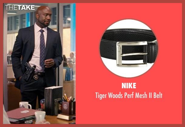 Nike black belt from Hot Pursuit seen with Richard T. Jones (Det Jackson)
