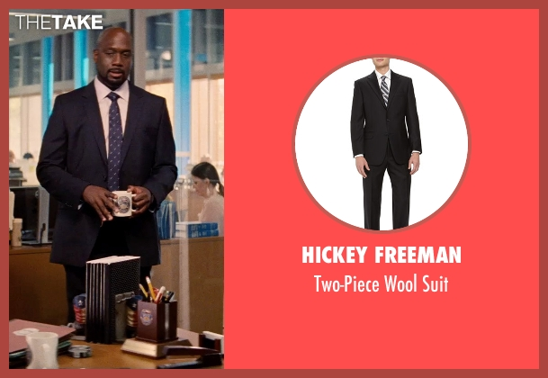 Hickey Freeman black suit from Hot Pursuit seen with Richard T. Jones (Det Jackson)