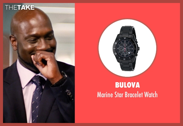 Bulova black watch from Hot Pursuit seen with Richard T. Jones (Det Jackson)