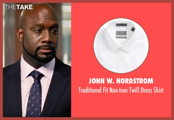 John W. Nordstrom white shirt from Hot Pursuit seen with Richard T. Jones (Det Jackson)