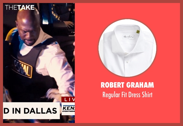 Robert Graham white shirt from Hot Pursuit seen with Richard T. Jones (Det Jackson)