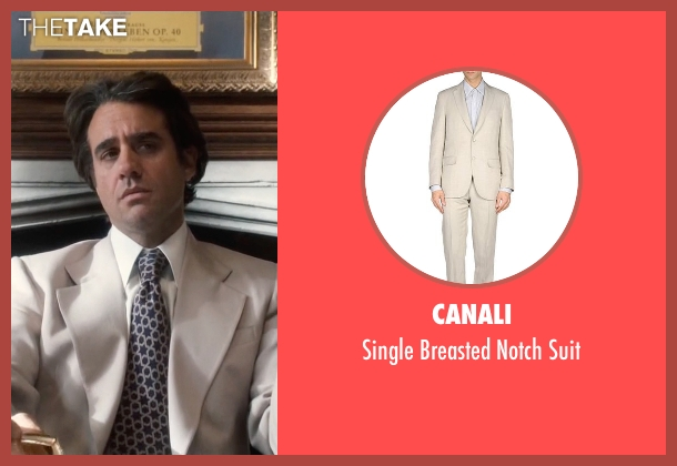 Canali beige suit from Vinyl seen with Richie Finestra (Bobby Cannavale)