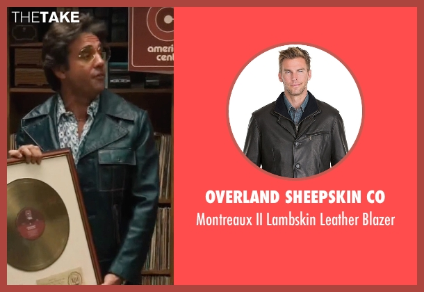 Overland Sheepskin Co black blazer from Vinyl seen with Richie Finestra (Bobby Cannavale)