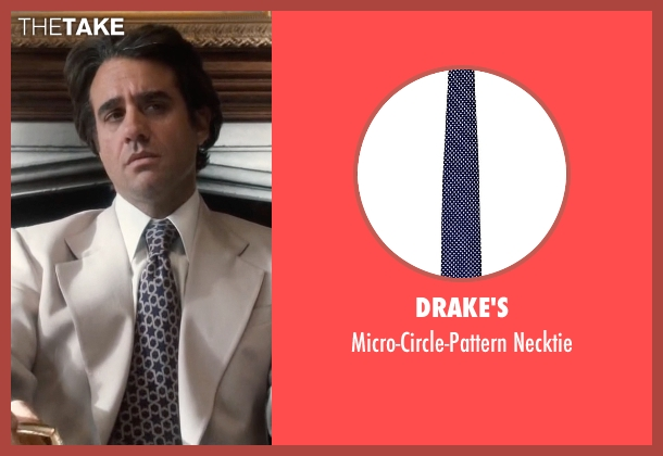 Drake's blue necktie from Vinyl seen with Richie Finestra (Bobby Cannavale)