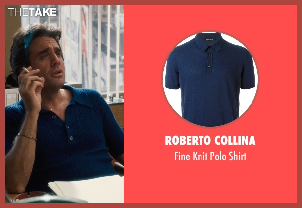 Roberto Collina blue shirt from Vinyl seen with Richie Finestra (Bobby Cannavale)
