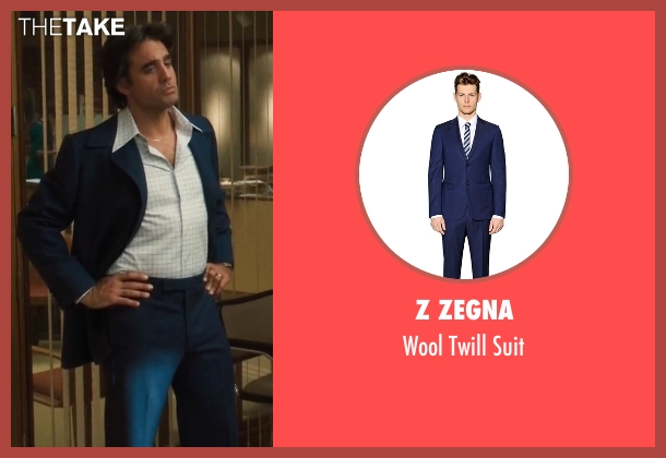 Z Zegna blue suit from Vinyl seen with Richie Finestra (Bobby Cannavale)
