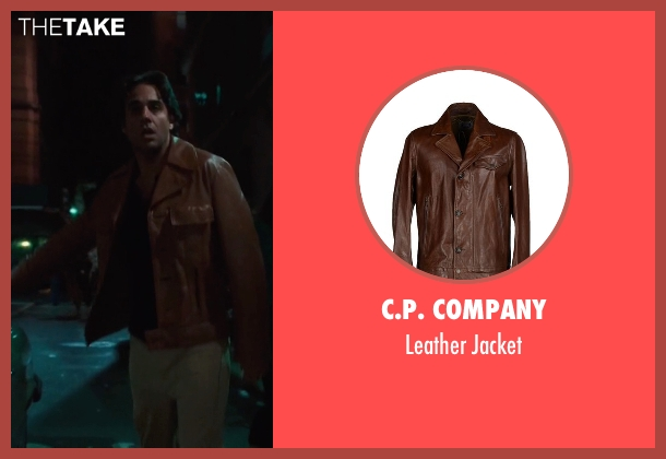 C.P. Company brown jacket from Vinyl seen with Richie Finestra (Bobby Cannavale)