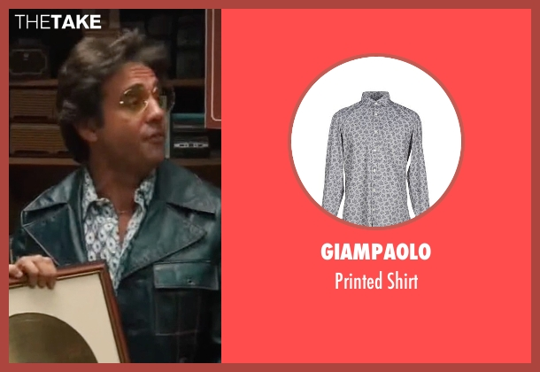 Giampaolo gray shirt from Vinyl seen with Richie Finestra (Bobby Cannavale)