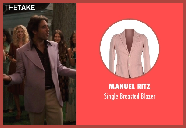 Manuel Ritz pink blazer from Vinyl seen with Richie Finestra (Bobby Cannavale)