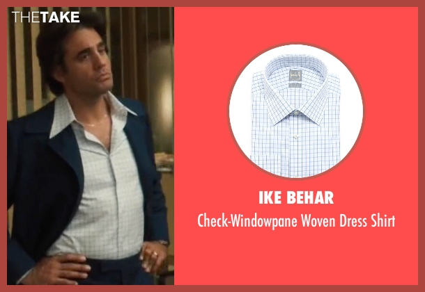 Ike Behar white shirt from Vinyl seen with Richie Finestra (Bobby Cannavale)