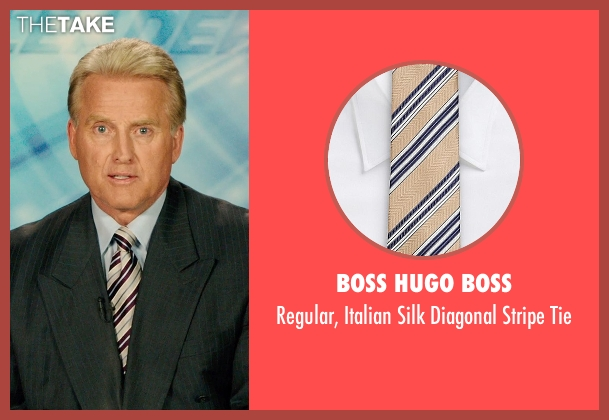 Boss Hugo Boss beige tie from The Purge: Anarchy seen with Rick Chambers (TV Newscaster #1)
