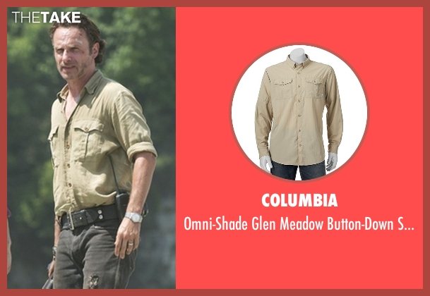 Columbia beige shirt from The Walking Dead seen with Rick Grimes (Andrew Lincoln)