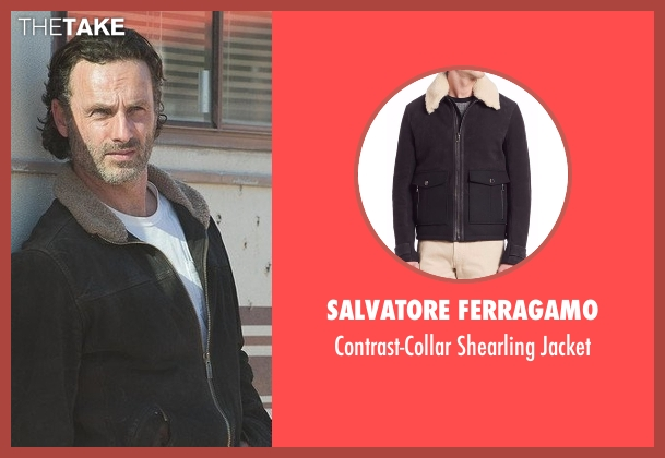 Haggar  black jacket from The Walking Dead seen with Rick Grimes (Andrew Lincoln)