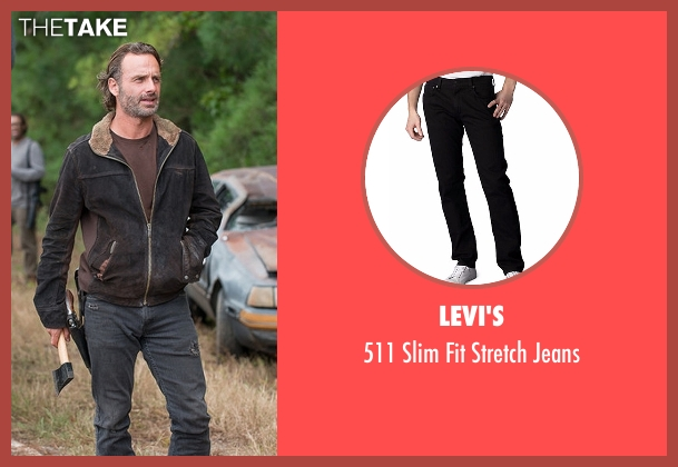 Levi's black jeans from The Walking Dead seen with Rick Grimes (Andrew Lincoln)