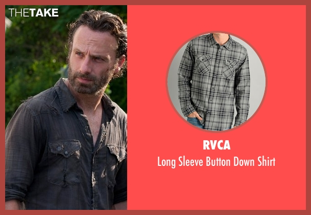 RVCA gray shirt from The Walking Dead seen with Rick Grimes (Andrew Lincoln)
