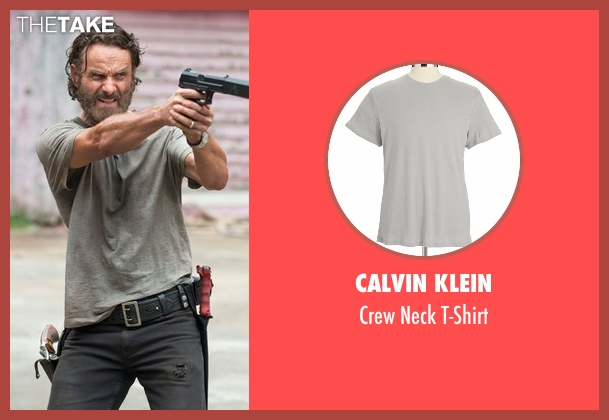 Calvin Klein gray t-shirt from The Walking Dead seen with Rick Grimes (Andrew Lincoln)