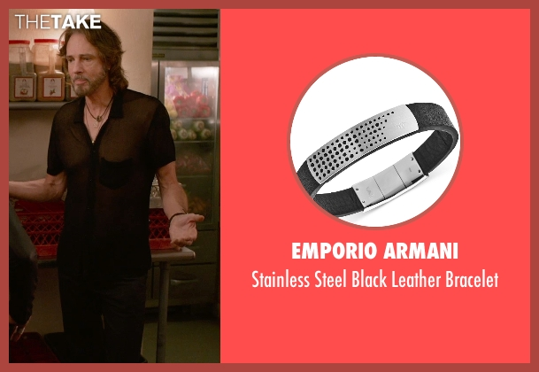 Emporio Armani black bracelet from Ricki and the Flash seen with Rick Springfield (Greg)
