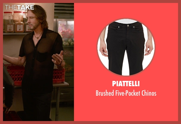 Piattelli black chinos from Ricki and the Flash seen with Rick Springfield (Greg)