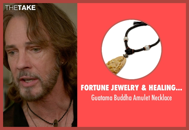 Fortune Jewelry & Healing Beauty black necklace from Ricki and the Flash seen with Rick Springfield (Greg)