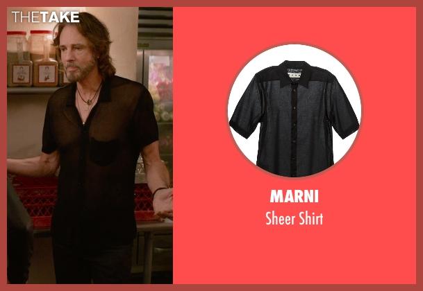 Marni black shirt from Ricki and the Flash seen with Rick Springfield (Greg)