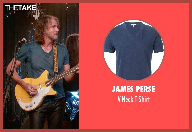 James Perse blue t-shirt from Ricki and the Flash seen with Rick Springfield (Greg)