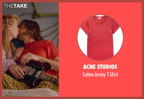 Acne Studios red t-shirt from Ricki and the Flash seen with Rick Springfield (Greg)