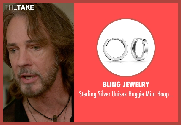 Bling Jewelry silver earrings from Ricki and the Flash seen with Rick Springfield (Greg)