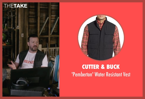 Cutter & Buck black vest from Special Correspondents seen with Ricky Gervais (Ian Finch)