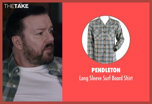 Pendleton green shirt from Special Correspondents seen with Ricky Gervais (Ian Finch)