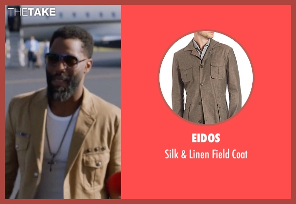 Eidos beige coat from Ballers seen with Ricky Jerret (John David Washington)