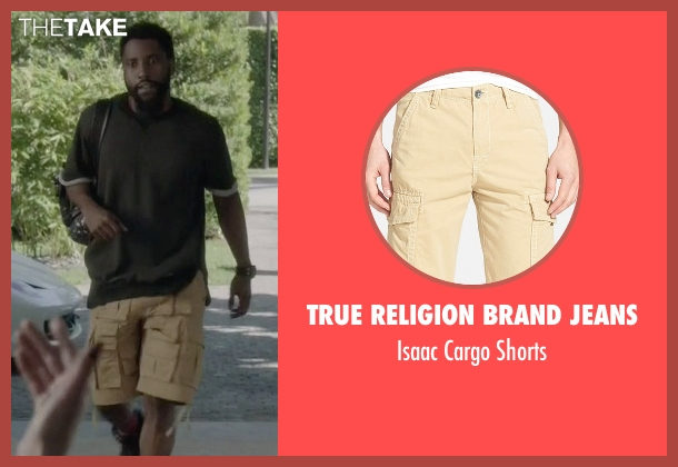 True Religion Brand Jeans beige shorts from Ballers seen with Ricky Jerret (John David Washington)