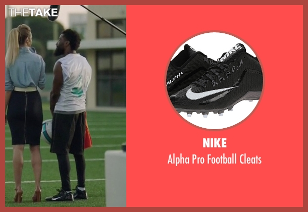 Nike black cleats from Ballers seen with Ricky Jerret (John David Washington)
