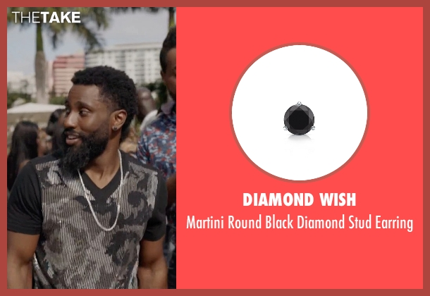 Diamond Wish black earring from Ballers seen with Ricky Jerret (John David Washington)