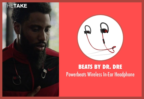 Beats By Dr. Dre black headphone from Ballers seen with Ricky Jerret (John David Washington)